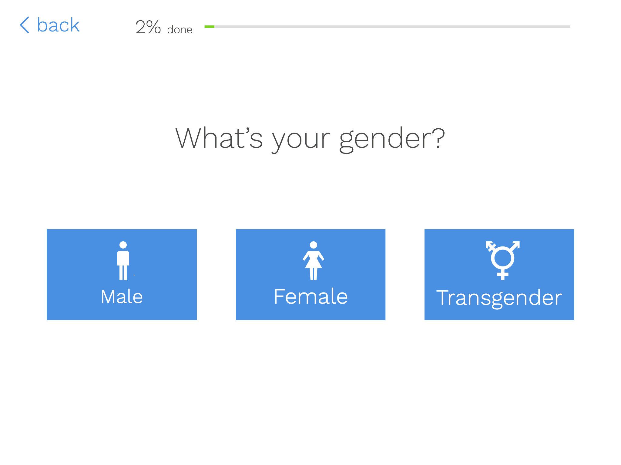 Gender Question on iPad